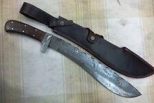 Custom Handmade Knife King's Damascus Machete Sword