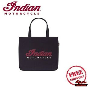 INDIAN MOTORCYCLE SCRIPT TOTE BAG BLACK ONE SIZE