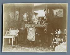 France, Le Salon  Vintage citrate print.  Tirage citrate  8,5x11,5  Circa