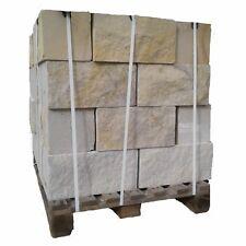 Sandstein Mauersteine 4 Seiten gesägt, Vorder- und Rückseite gespalten, 1 Pal.