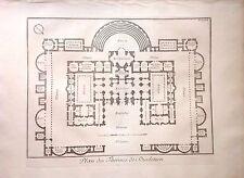 ITALIA/ ITALY, Roma/ Rome,plano de las termas de Diocleciano .Barbault,1761