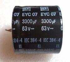 Roederstein 63V 3300uF 105C Snap in Electrolytic Capacitor Audio Tone ROE K2 EYC