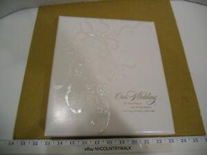 Hallmark Stories White Wedding Memory Keepsake Scrapbook Photo Album Book - NOS