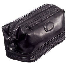 Danielle Milano Large Frame Top Zip Toiletries Bag - Black PVC