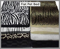 New Flat Dog Beds Quality Soft Pet Cats/Dogs Cushion 2 Sizes 8 Designs UK seller