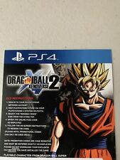DragonBall Xenoverse 2 Playable Character Game Add-On Code Card for PS4 *NEW*