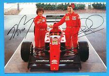 Prost & Mansell   Formula 1 AGIP  Goodyear   Ferrari  --  vintage new postcard