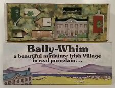 Wade of Ireland 1980's Porcelain Miniature Village Bally Whim Set #1 Mint in Box