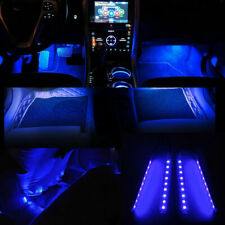 Interior Trim Decorative Glow Neon Blue 1 x 4in1 Led Atmosphere Light Strips