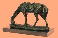 Horse Labrador Dog Lover English Saddle Farm Art Bronze Marble Statue Sculpture