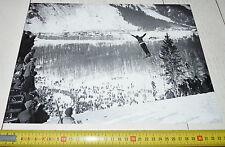 PHOTO 1924 JEUX OLYMPIQUES D'HIVER CHAMONIX SAUT A SKIS TULLIN THAMS NORGE