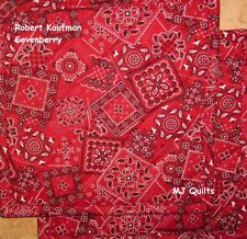 "Set of 2 (8"") Red Bandanna Print-Handmade-Quilted-Insulated-Hot Pads-Pot Holder"