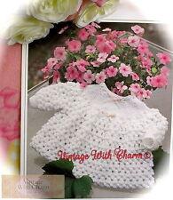Vintage Knitting Pattern Baby's 'Sugar Sweet' Angel Top. 2 Sizes. FREE UK P&P