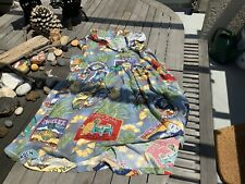 Reyn Spooner Hawaiian Aloha Dress Pineapples - Royal - Coral Garden - Small?