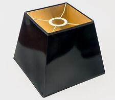 Lampenschirm Schwarz Gold für Deckenleuchten Hängelampe Eckig Quadratisch