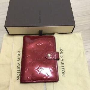 LOUIS VUITTON AGENDA PM Notebook Day Planner Cover Vernis Leather R21016 #5989Q