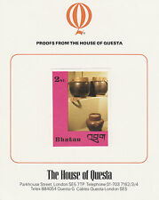 Bhutan 2643 - 1988 HANDICRAFTS & ANTIQUES 2nu on HOUSE OF QUESTA PROOF  CARD