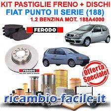 KIT PASTIGLIE FRENO FERODO + DISCHI PILENGA FIAT PUNTO II SERIE (188) 1.2 8V