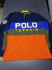 New listing Polo Ralph Lauren Men's Large L/S Terrain Camo Patch Rugby Shirt Colorblock NWT