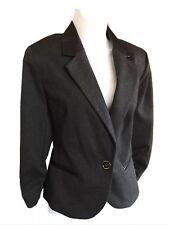 Final Sale! New Ellen Tracy Charcoal Grey  Women Blazer Size M.  Orig. $89.50