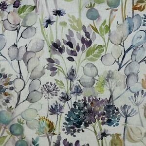 Voyage Maison Country Hedgerow Sky Linen Fabric Per Meter Curtains Blinds Crafts