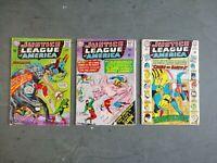 Justice League Of America Issue  #36 37 38(DC, 1965) Batman Hawkman Green Arrow