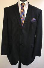 MS2037 BALMAIN novations rayé noir 100% Laine Costume MEN'S Blazer Jacket 46 L