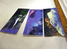"""Yosemite Sequoia Park Tickets set of three vintage colorful pictures 2.5X5"""""""