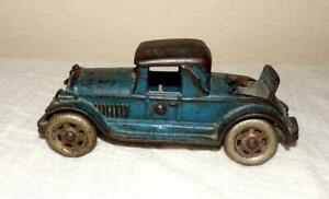 """VTG Orig 20s Cast Iron 5"""" Model A Toy Car Ford Coupe Rumble seat """"USA"""""""
