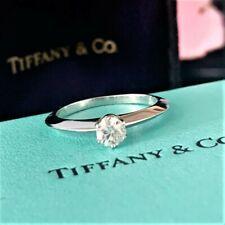 Auth Tiffany & Co. Platinum 950 1P Diamond 0.25ct Ring Engagement ring Band 5.5