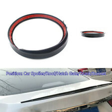 1.2M Black Soft Car Rear Roof Trunk Spoiler Rear Wing Lip Protector Trim Sticker