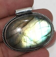 """Fiery Labradorite 925 Sterling Silver Plated Pendant 1.7"""" Christmas Gift GW"""