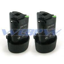 TWO Power Tool Batteries for MAKITA 10.8V BL1013 BL1014 194550-6 Battery x2