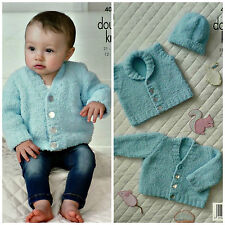 Knitting pattern BABY GILET CARDIGAN E CAPPELLO COCCOLE DK KING COLE 4004