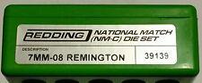 39139 REDDING 7MM-08 REMINGTON NATIONAL MATCH DIE SET - BRAND NEW - FREE SHIP