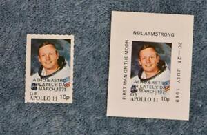 1971 Postal Strike Singles - Neil Armstrong Apollo 11 - MNH