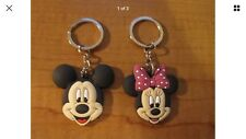 MICKEY & MINNIE MOUSE Keychains Key Chain PVC Rubber with Metal Ring