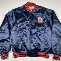 Vintage 80's Boston Red Sox Swingster Satin Baseball Jacket L Large MLB Starter