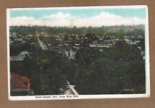 Owen Sound, Ontario, Canada Bird's eye view from West Hill used 1925