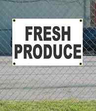 2x3 FRESH PRODUCE Black & White Banner Sign NEW Discount Size & Price FREE SHIP