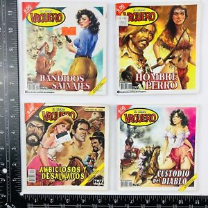 Lote de 4 Revistas EL LIBRO VAQUERO A COLOR Mexican Comic lot of 4 GGA