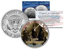 AMERICAN CIVIL WAR - 150th Anniversary * Abraham Lincoln * JFK Half Dollar Coin