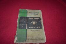 John Deere B Tractor Operator's Manual AMIL13