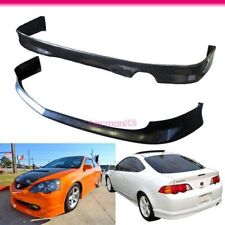 Fits 2002-2004 Acura RSX 2Dr PU Front+Rear Bumper Lip JDM Style