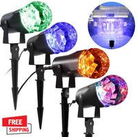 Christmas Lights Projector LED Laser Spotlight Waterproof Outdoor Indoor LK