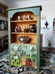 Dollhouse Miniature Artisan BBE Barely Big Enough Shelf Cabinet Lot Signed 1:12