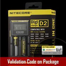 Nitecore D2 LCD Li-ion 26650 18650 16340 14500 AA AAA Universal Battery Charger
