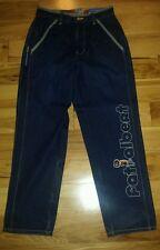 Mens FUBU Platinum Dark Blue Jeans Fat Albert Size 32/34 Nice Look