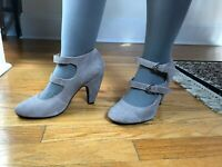 Cute Urban Outfitters Kimchi Blue Beige Double Strap Mary Jane Heels Size 7.5