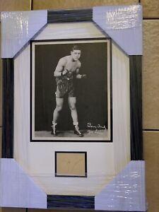 Original Joe Louis Signed Vintage Photo Framed JSA LOA Rare Boxing Autograph